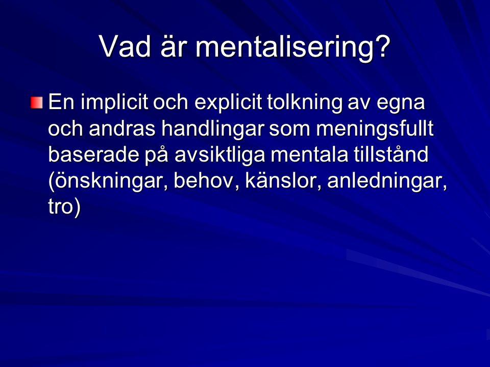 Vad är mentalisering