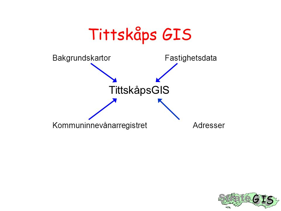 Tittskåps GIS Bakgrundskartor Fastighetsdata TittskåpsGIS