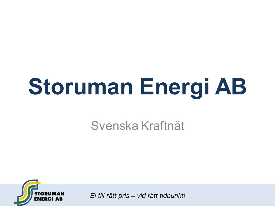 Storuman Energi AB Svenska Kraftnät