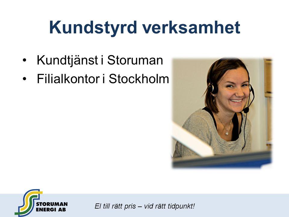 Kundstyrd verksamhet Kundtjänst i Storuman Filialkontor i Stockholm