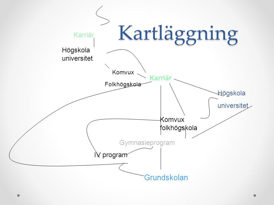 Kartläggning Grundskolan Karriär Högskola universitet Karriär Högskola