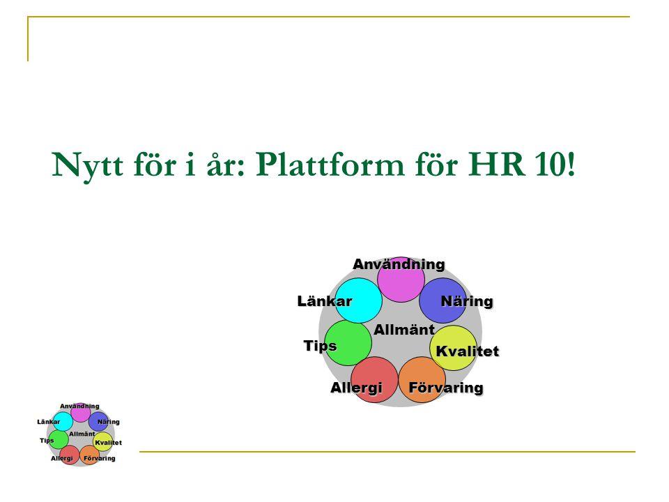 Nytt för i år: Plattform för HR 10!