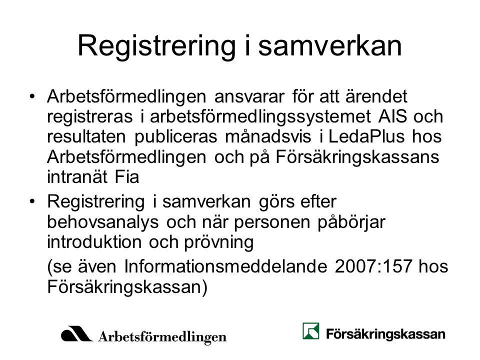Registrering i samverkan