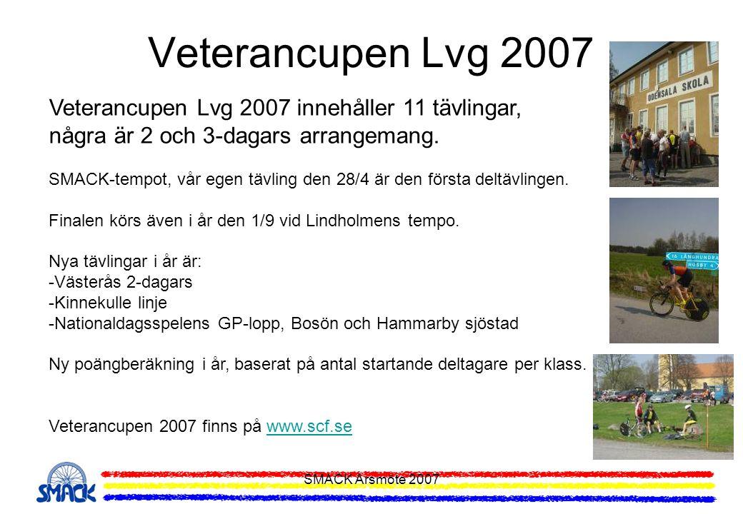 Veterancupen Lvg 2007 Veterancupen Lvg 2007 innehåller 11 tävlingar,