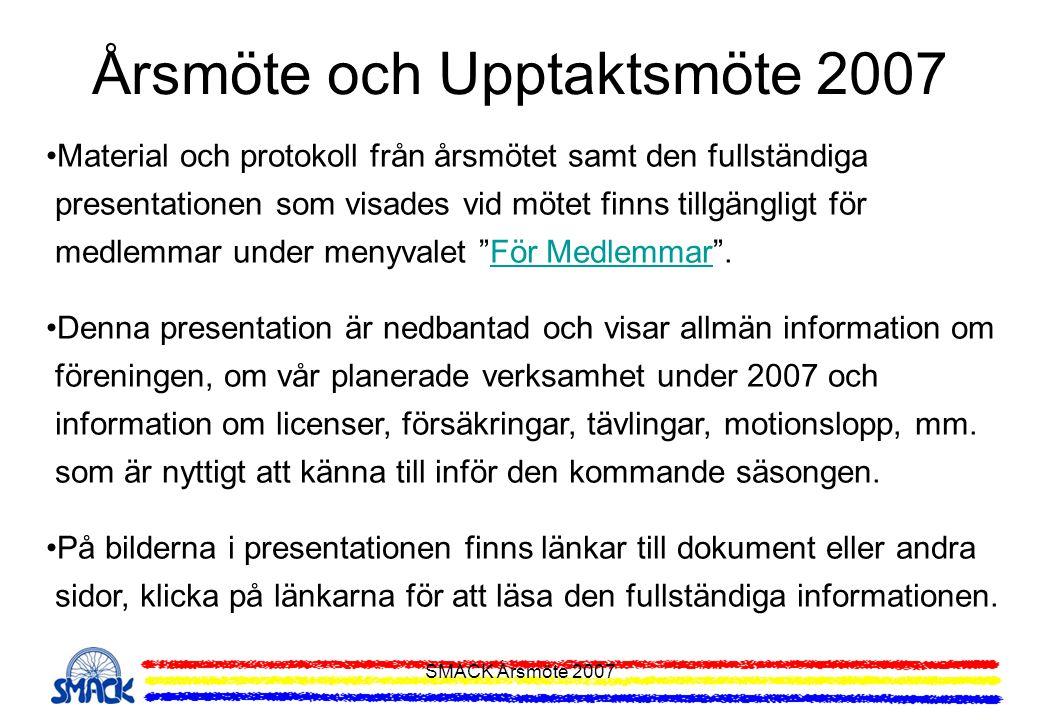 Årsmöte och Upptaktsmöte 2007