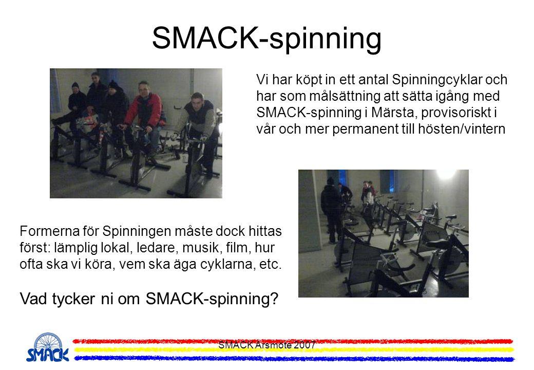 SMACK-spinning Vad tycker ni om SMACK-spinning