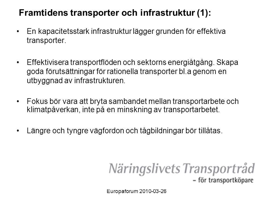 Framtidens transporter och infrastruktur (1):