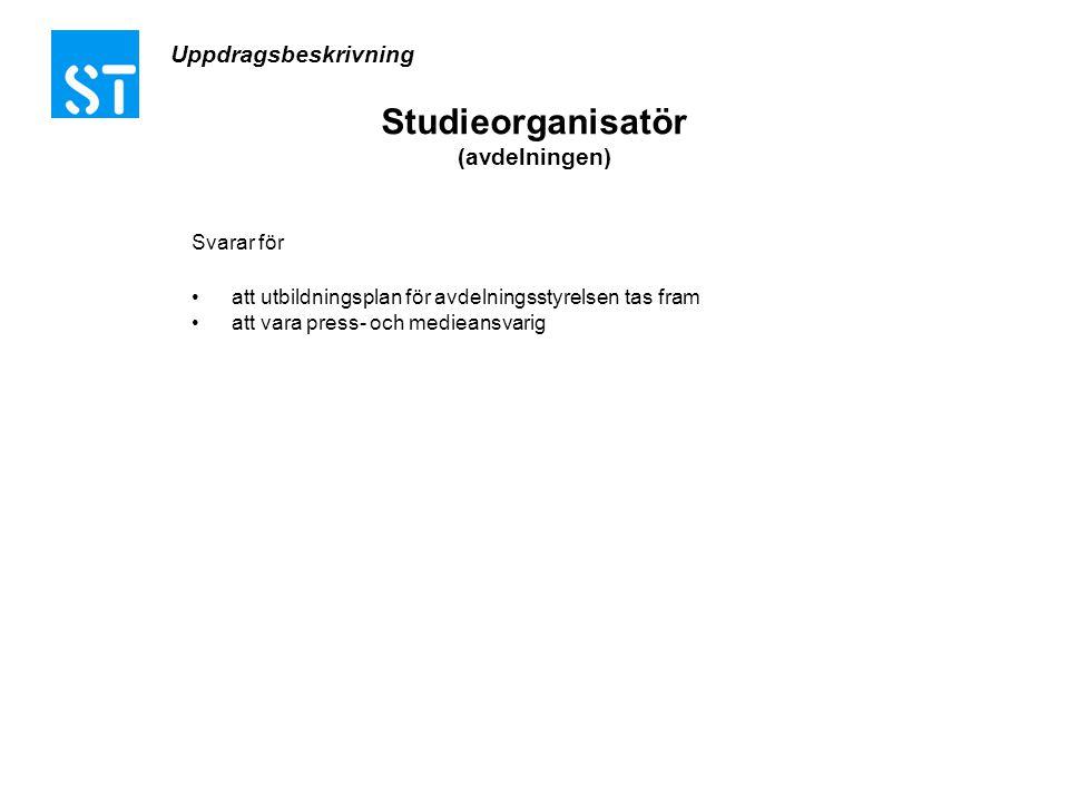 Studieorganisatör (avdelningen)