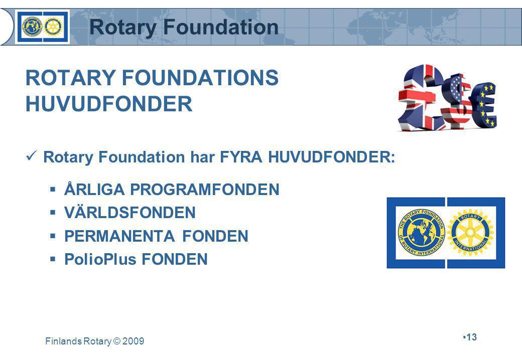 ROTARY FOUNDATIONS HUVUDFONDER