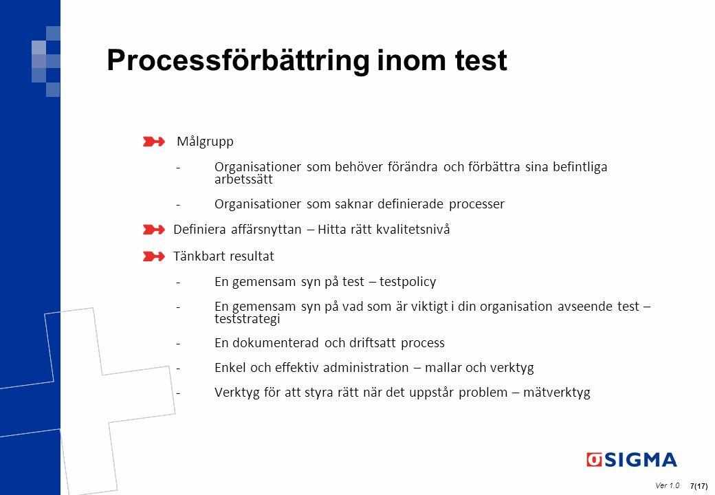 Processförbättring inom test