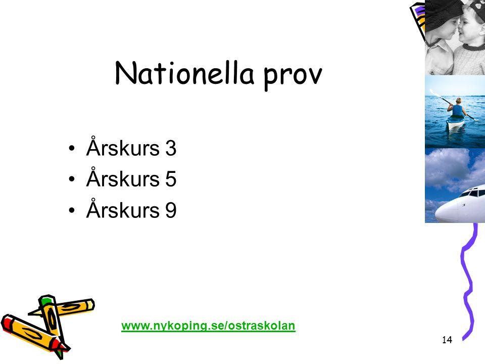 Nationella prov Årskurs 3 Årskurs 5 Årskurs 9