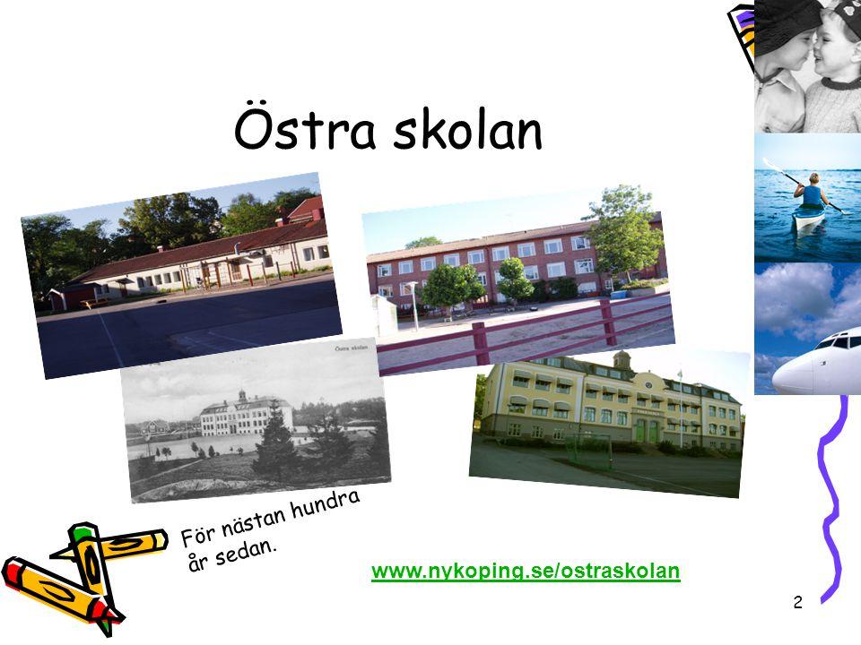 Östra skolan För nästan hundra år sedan. www.nykoping.se/ostraskolan