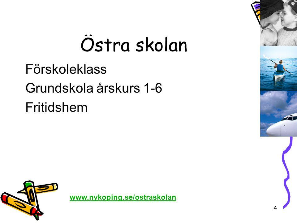 Östra skolan Förskoleklass Grundskola årskurs 1-6 Fritidshem