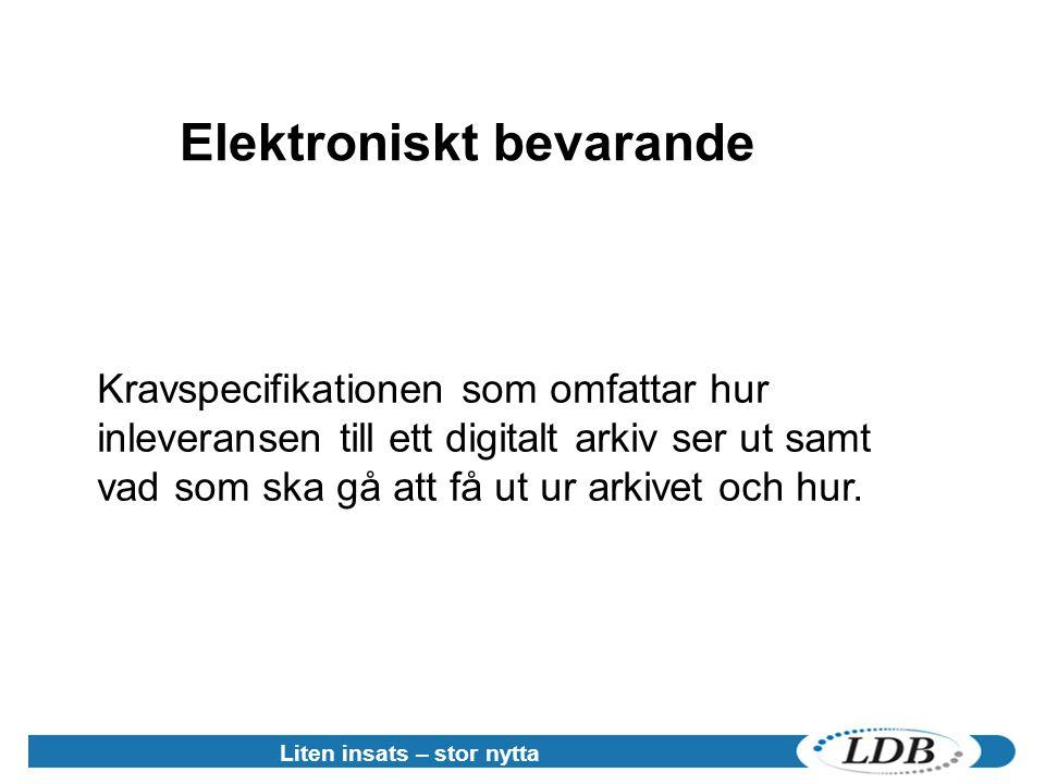 Elektroniskt bevarande