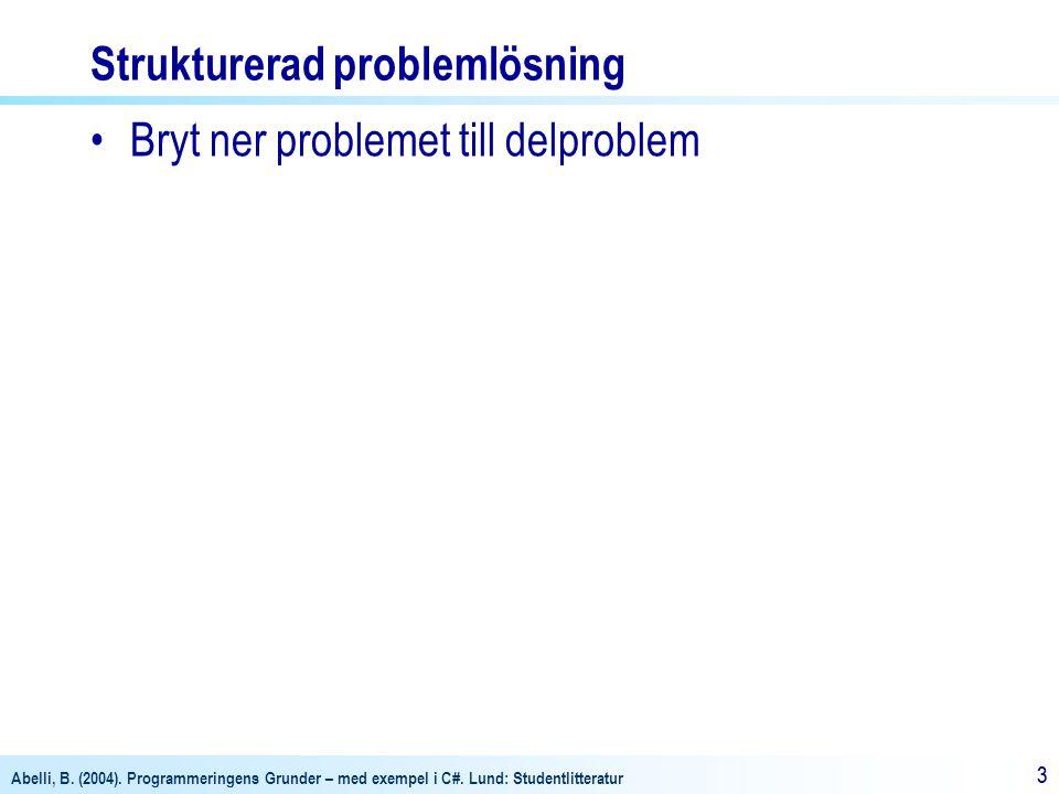 Strukturerad problemlösning
