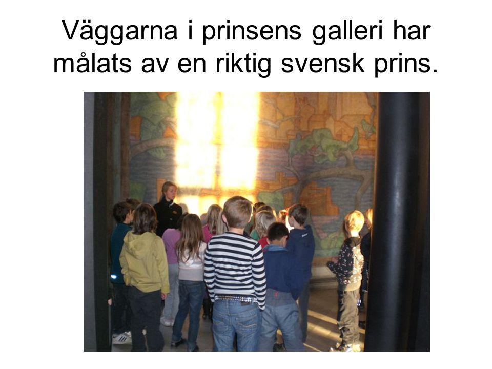 Väggarna i prinsens galleri har målats av en riktig svensk prins.