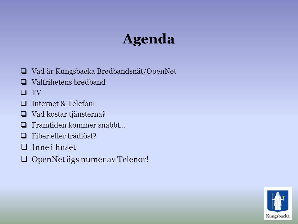 Agenda Inne i huset OpenNet ägs numer av Telenor!
