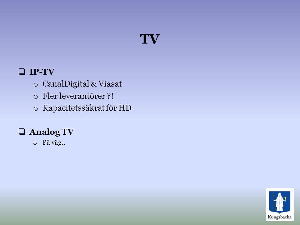 TV IP-TV CanalDigital & Viasat Fler leverantörer !