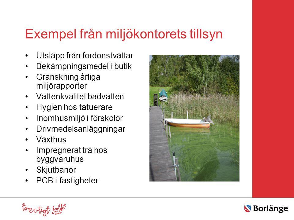 Exempel från miljökontorets tillsyn