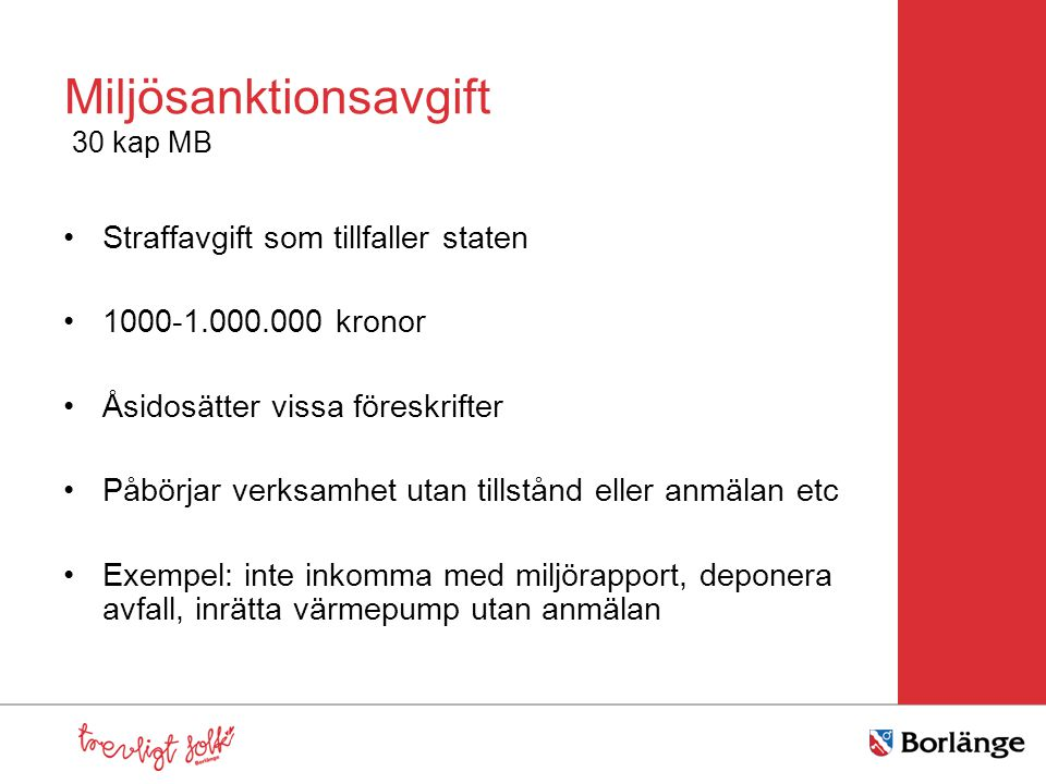 Miljösanktionsavgift 30 kap MB