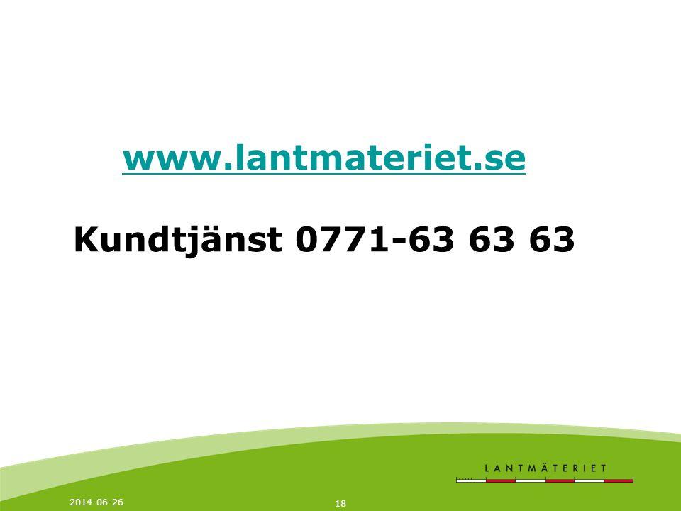 www.lantmateriet.se Kundtjänst 0771-63 63 63