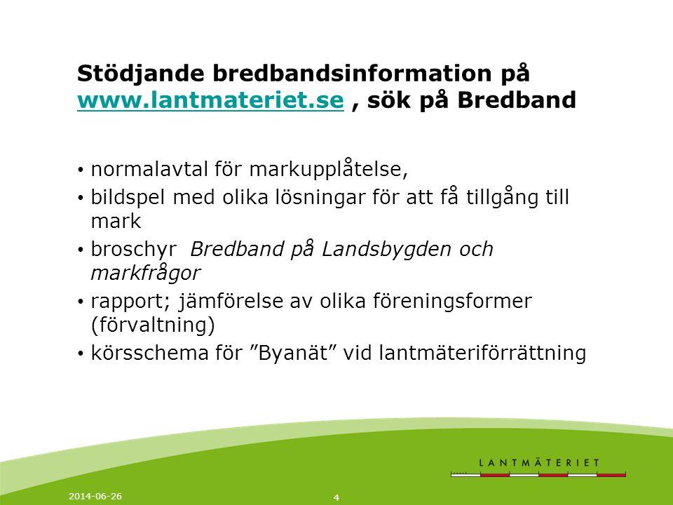 Stödjande bredbandsinformation på www. lantmateriet