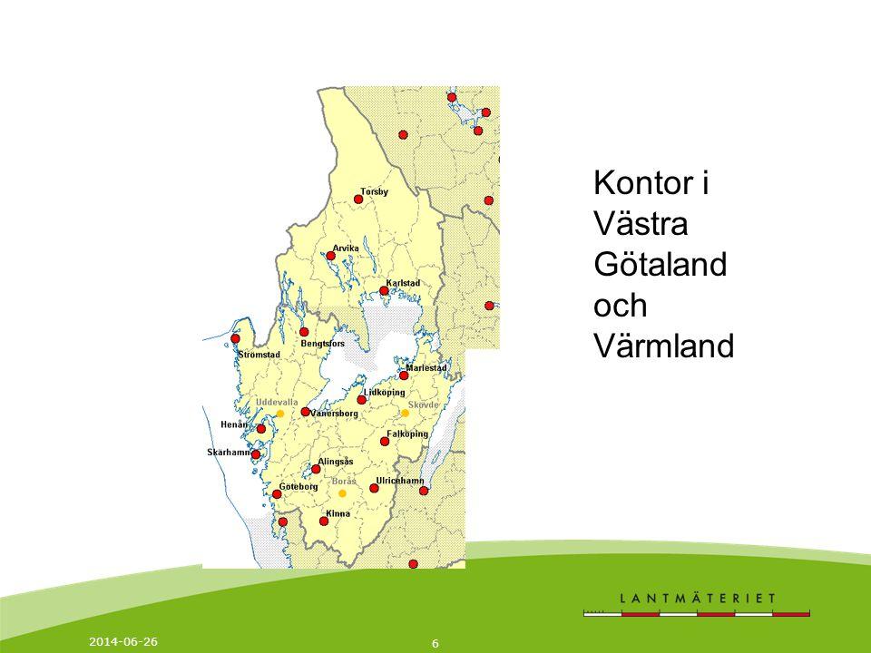 Kontor i Västra Götaland och Värmland