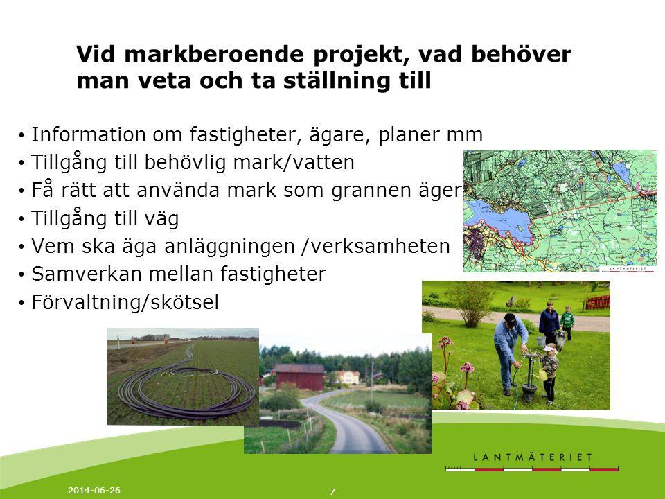 Vid markberoende projekt, vad behöver man veta och ta ställning till