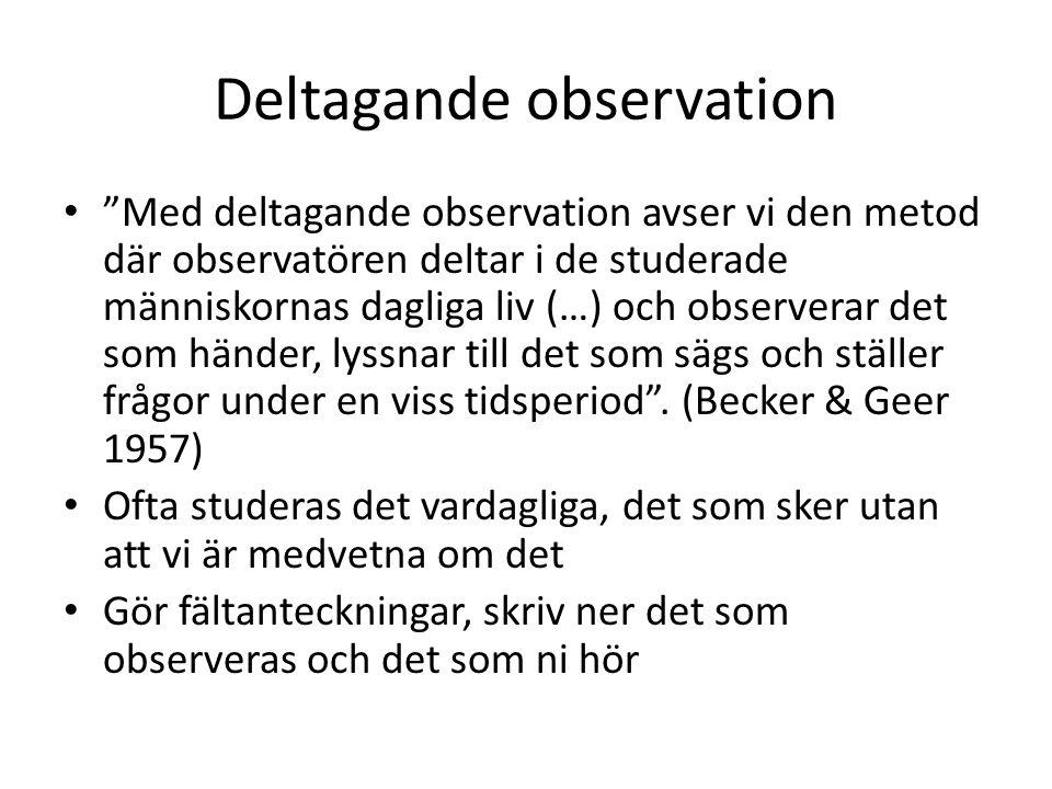 Deltagande observation