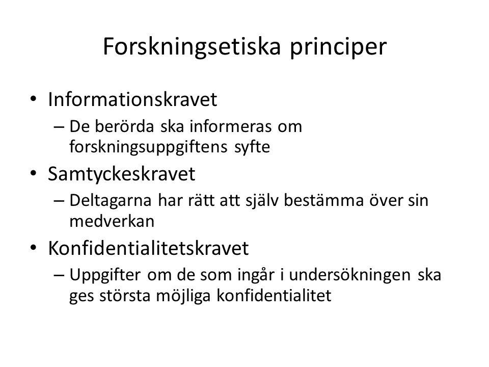 Forskningsetiska principer