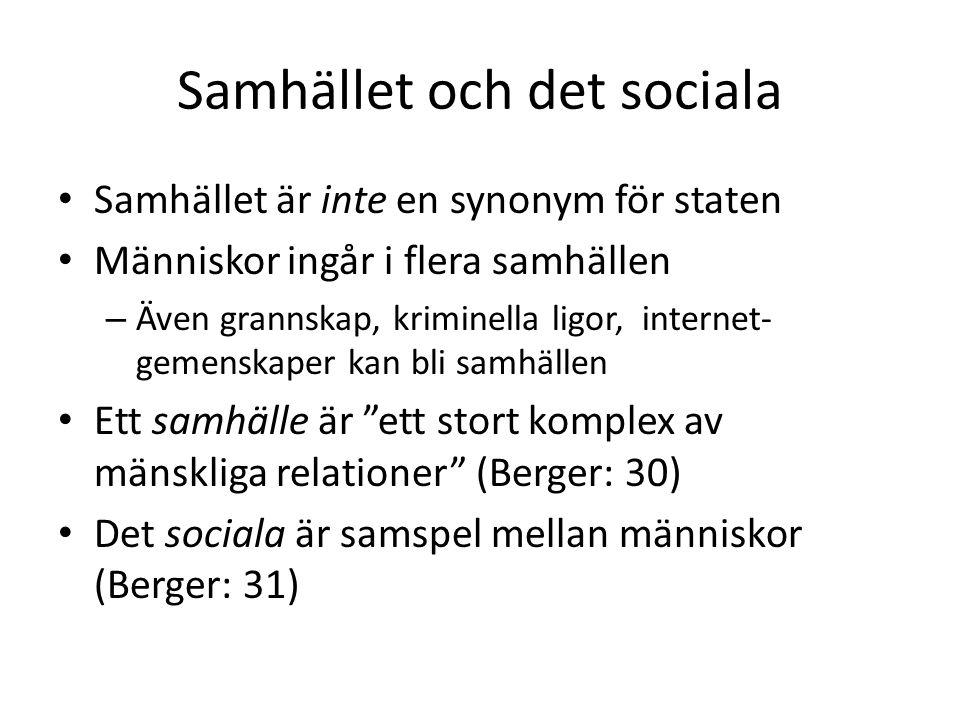Samhället och det sociala
