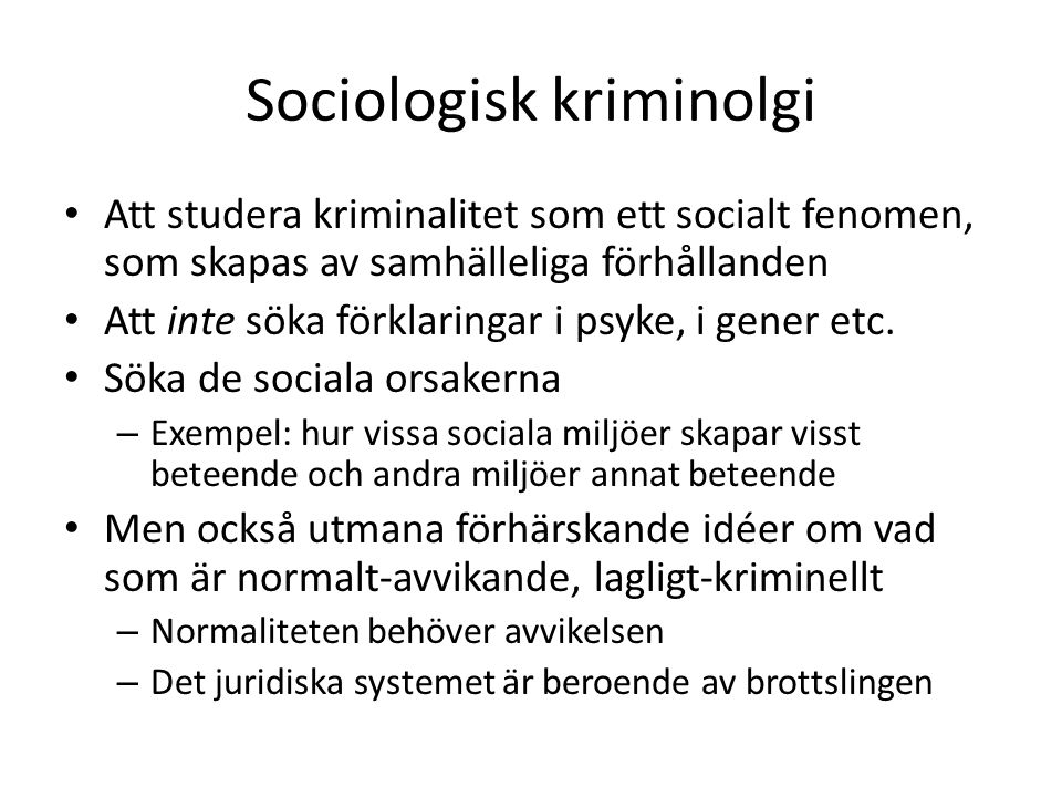 Sociologisk kriminolgi