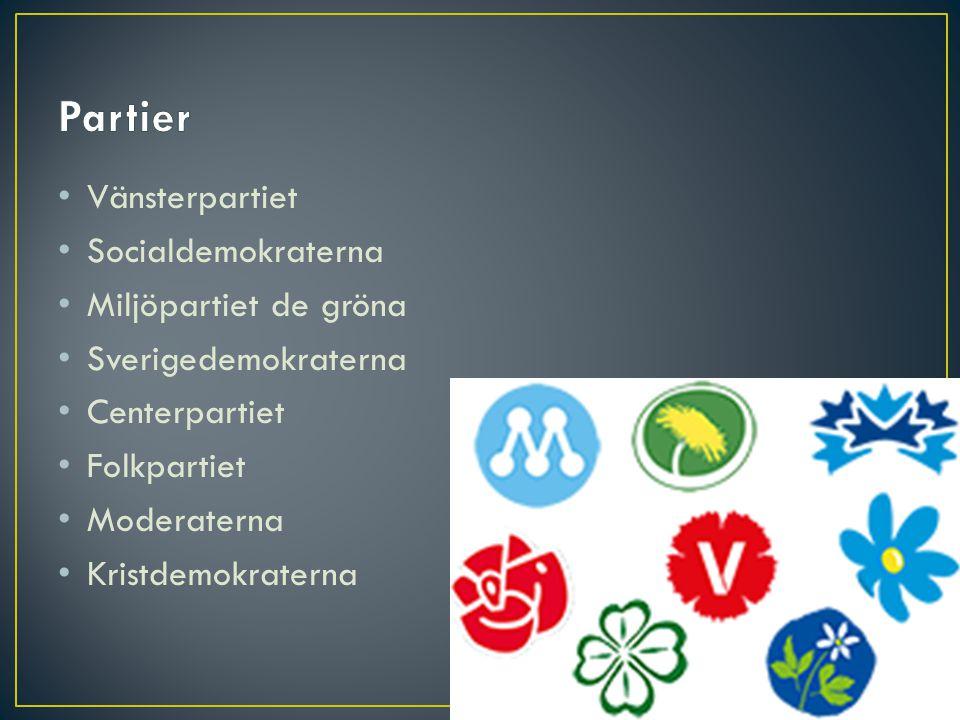 Partier Vänsterpartiet Socialdemokraterna Miljöpartiet de gröna