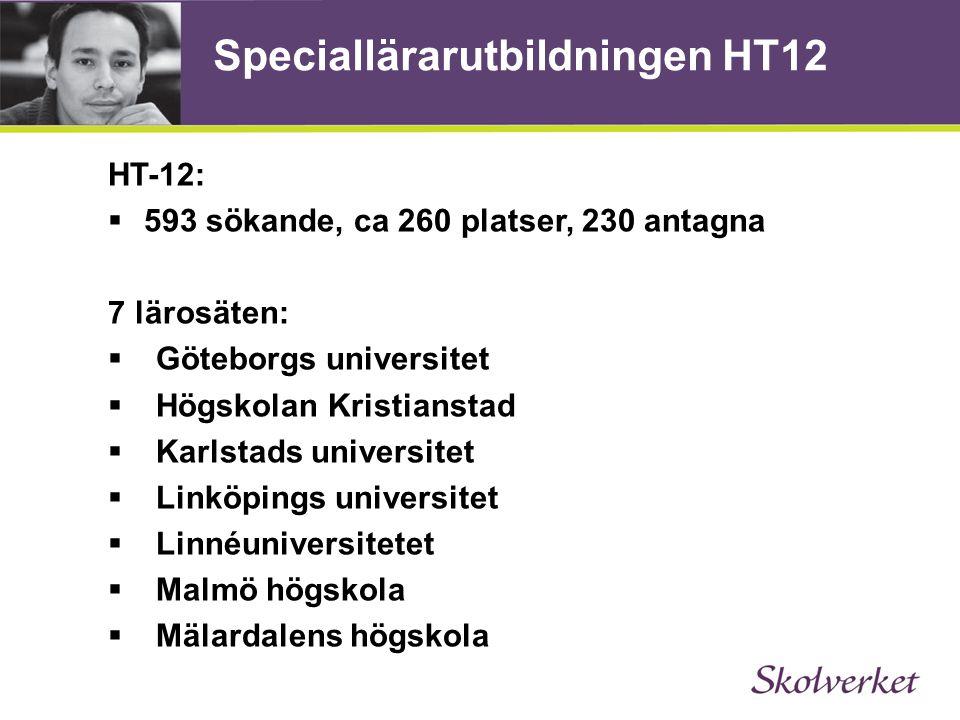 Speciallärarutbildningen HT12
