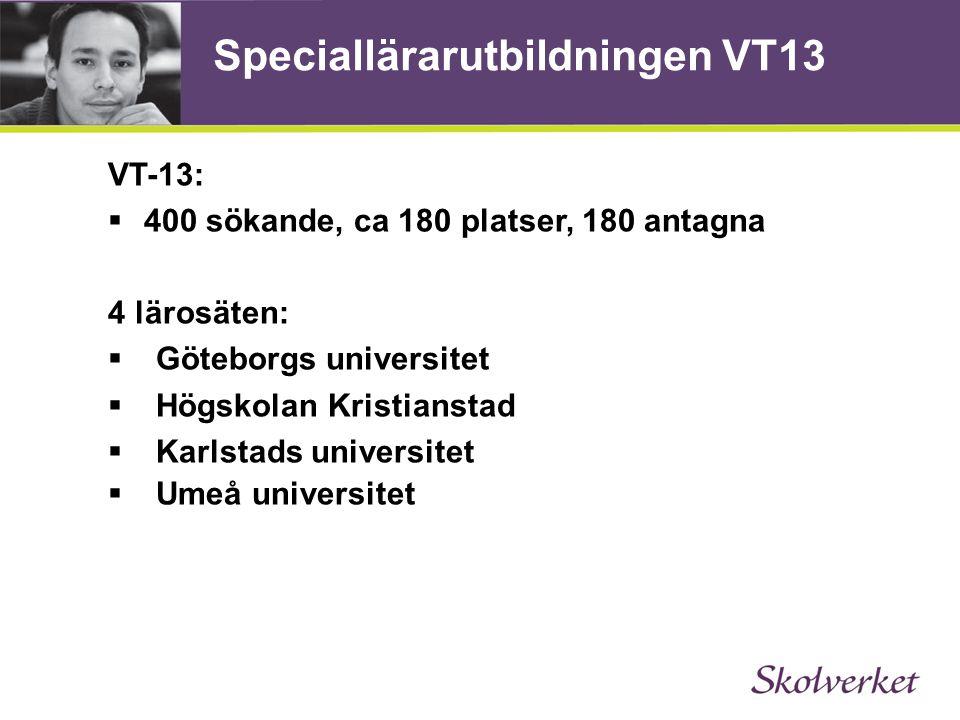 Speciallärarutbildningen VT13