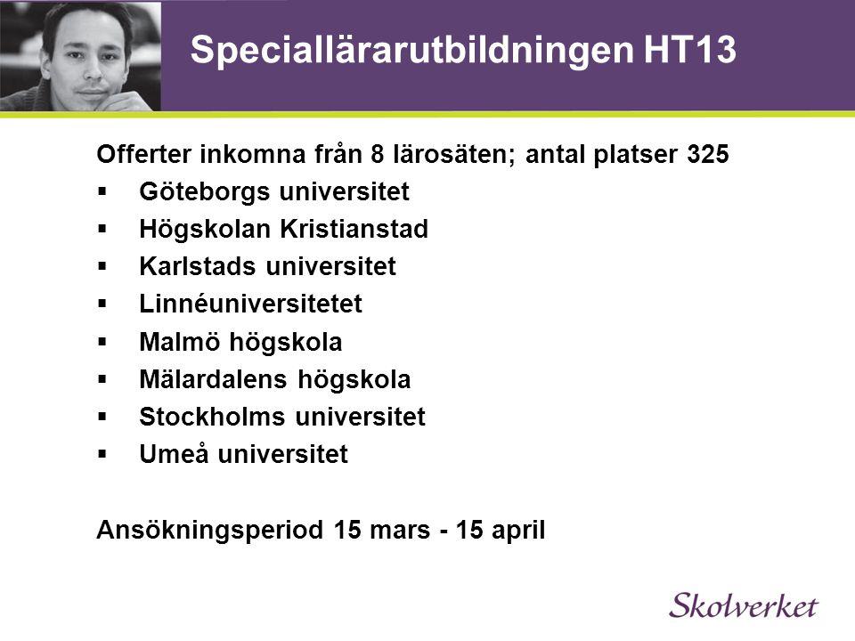 Speciallärarutbildningen HT13
