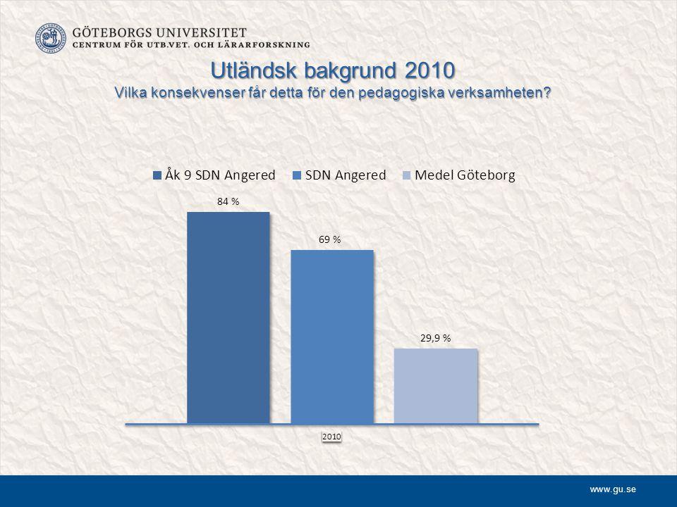 Utländsk bakgrund 2010 Vilka konsekvenser får detta för den pedagogiska verksamheten