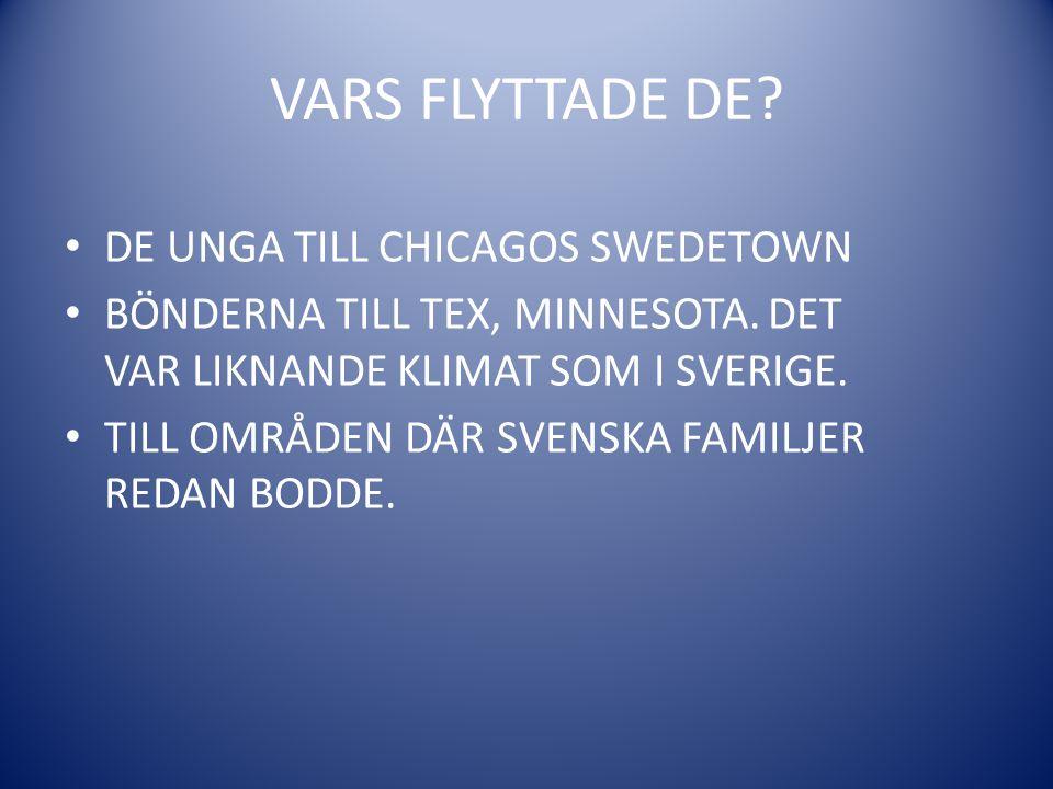 VARS FLYTTADE DE DE UNGA TILL CHICAGOS SWEDETOWN