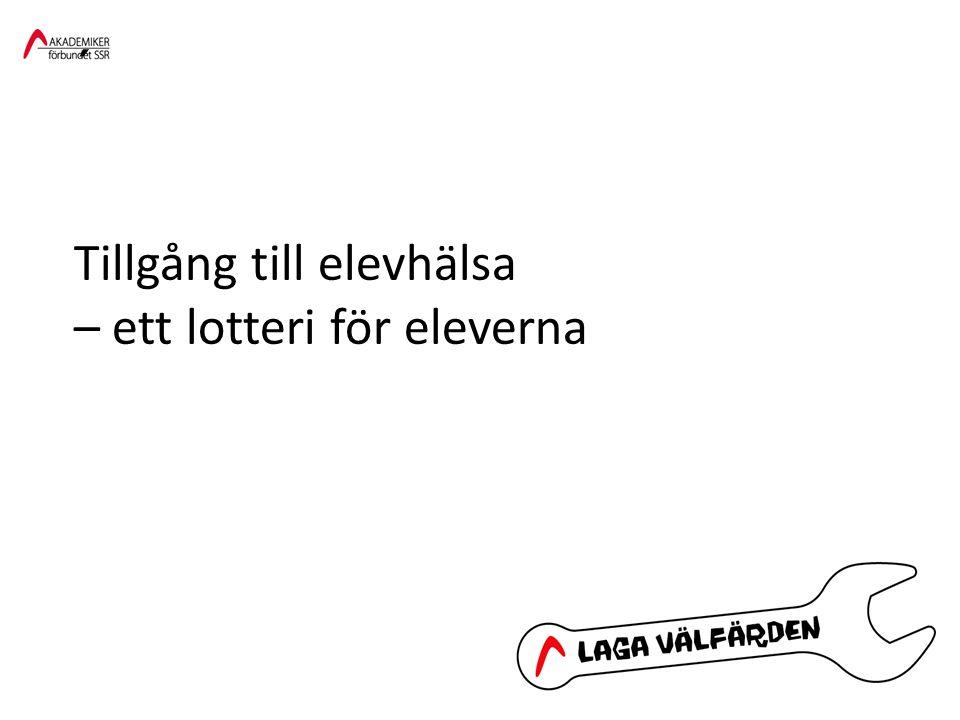 ´ Tillgång till elevhälsa – ett lotteri för eleverna