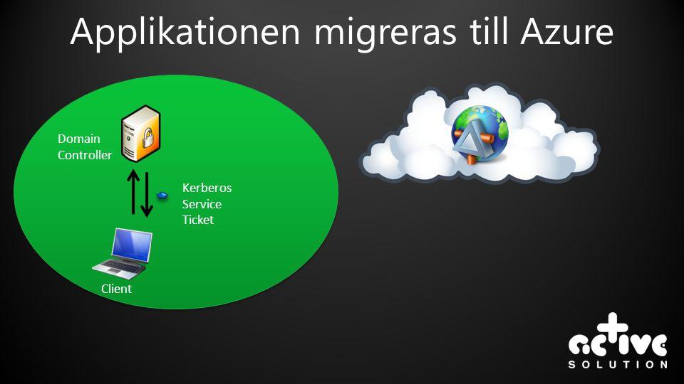 Applikationen migreras till Azure