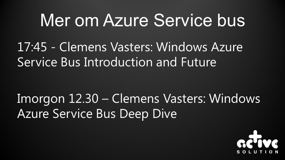 Mer om Azure Service bus
