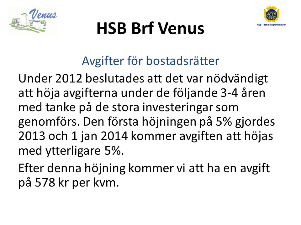 HSB Brf Venus