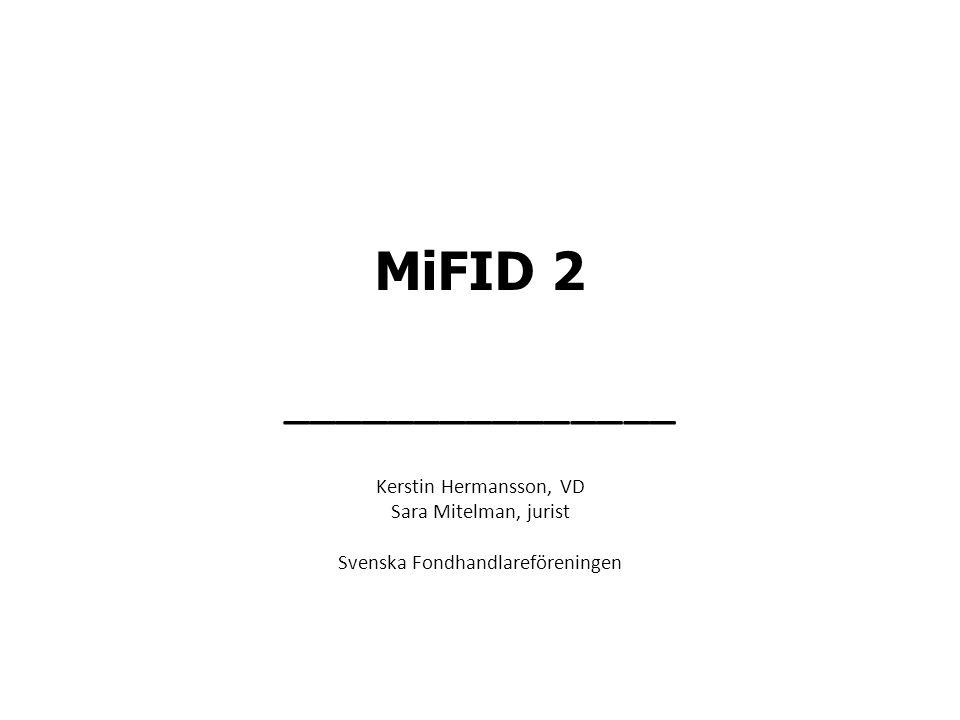 MiFID 2 _______________