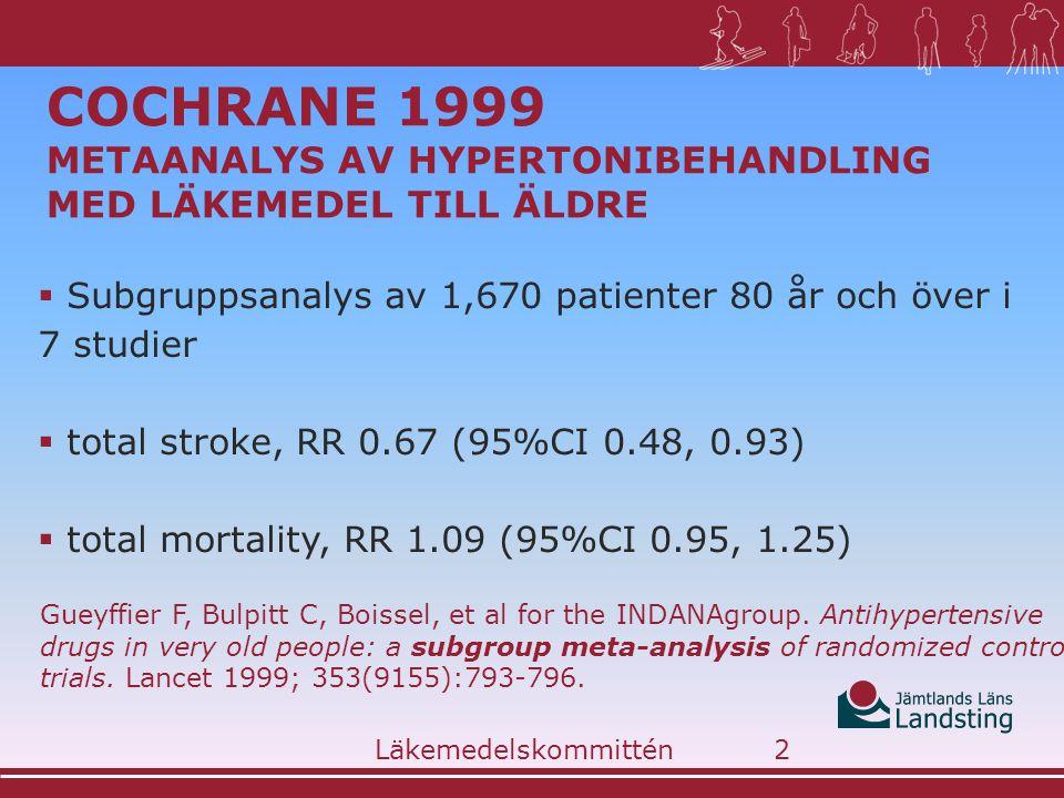 Cochrane 1999 metaanalys av hypertonibehandling med läkemedel till äldre