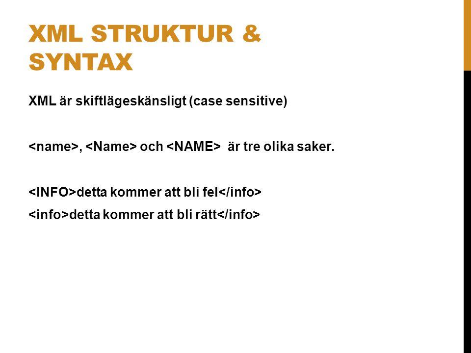 XML struktur & syntax