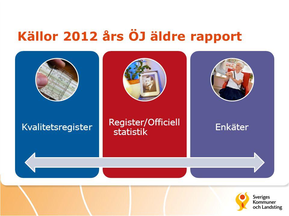 Källor 2012 års ÖJ äldre rapport