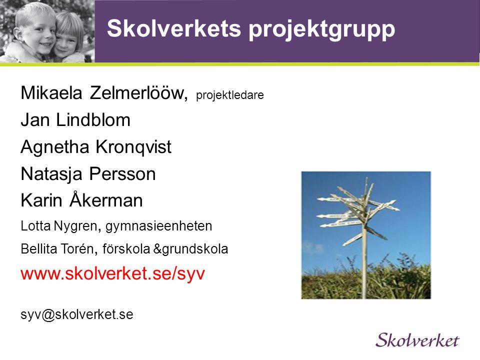 Skolverkets projektgrupp