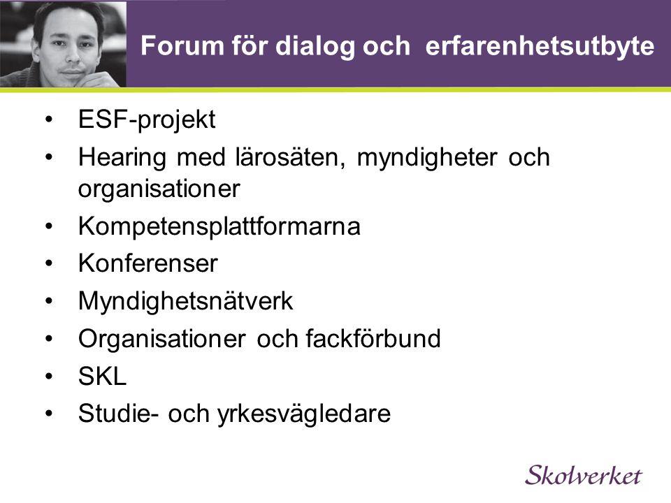 Forum för dialog och erfarenhetsutbyte