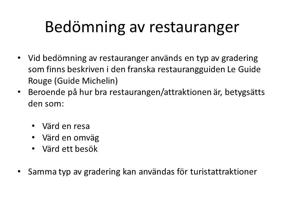 Bedömning av restauranger