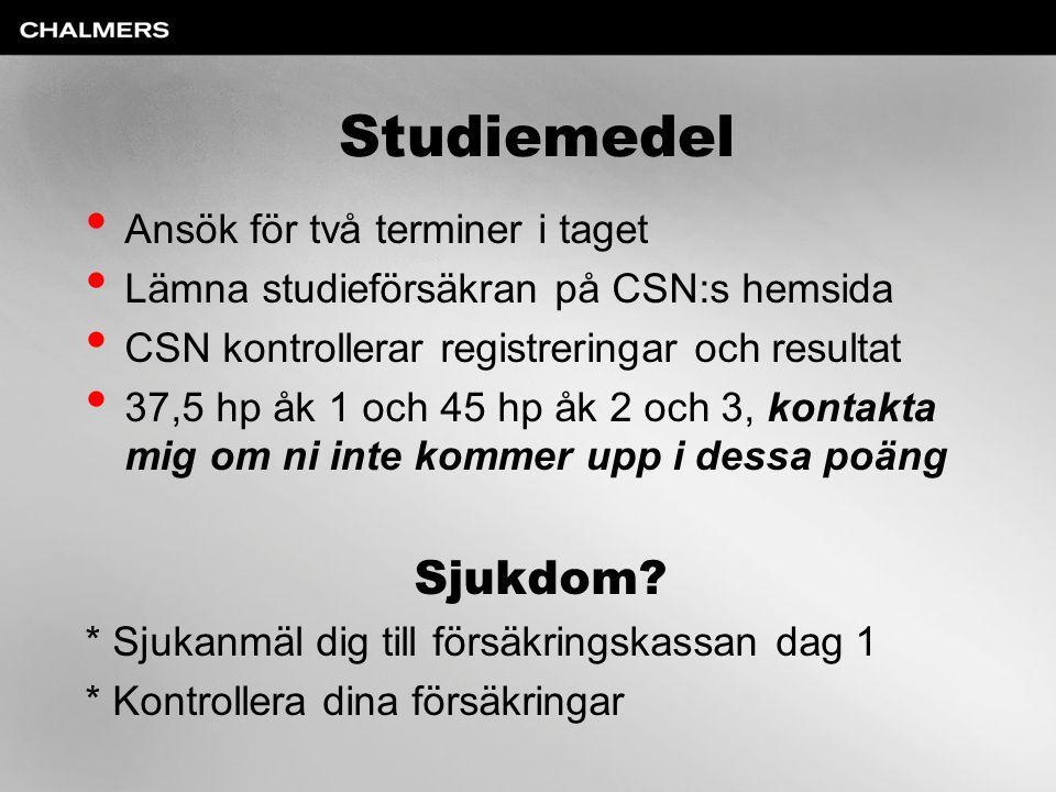Studiemedel Sjukdom Ansök för två terminer i taget